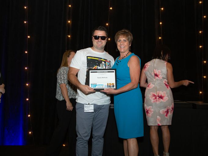 Rado Kanev of Equity Methods Accepts the Top Companies To Work for in Arizona Award, June 2018