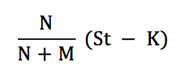 Warrant Dilution Equation 3