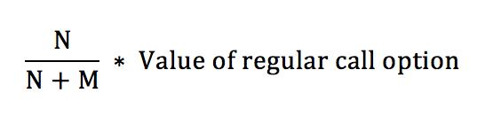 Warrant Dilution Equation 4