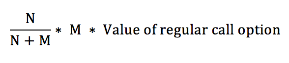 Warrant Dilution Equation 5