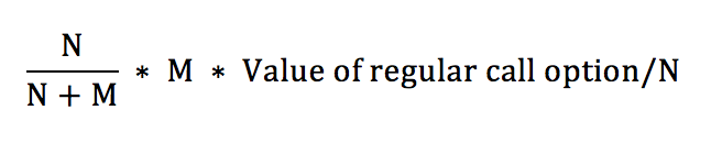 Warrant Dilution Equation 6